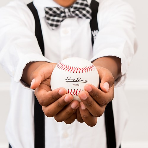 Personalized Printed Baseball Keepsake- Ring Bearer