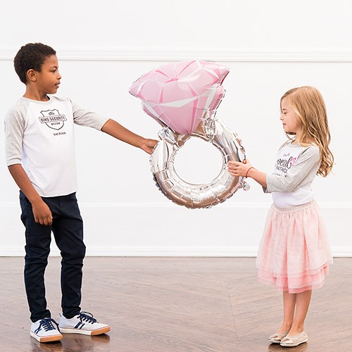 Foil Balloon Decoration - Diamond Engagement Ring
