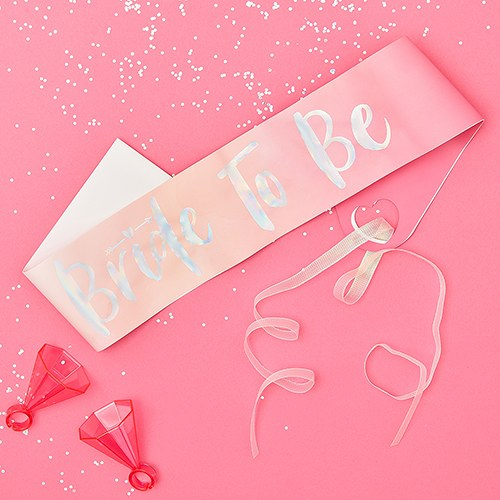 Bachelorette Party Sash - Pink Bride To Be
