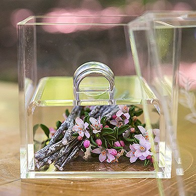 Unique Alternative Acrylic Wedding Ring Box The Knot Shop