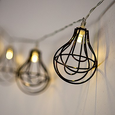 string of lights with light bulb wire cage battery led the knot. Black Bedroom Furniture Sets. Home Design Ideas