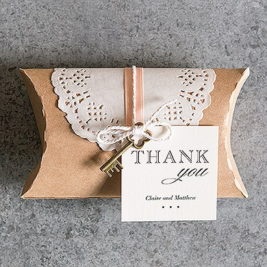 Wedding Gift Box Wrapping : Kraft Favor Box with Lace WrapperThe Knot Shop