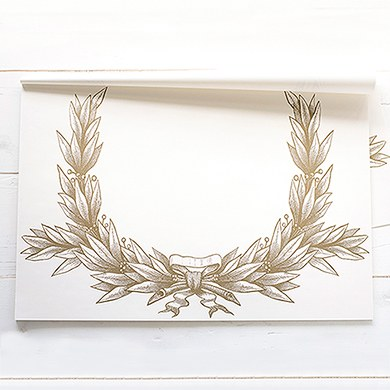 Gold Wreath Paper Placemats Disposable Table Decorations