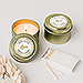 Personalized Gold Tin Candle Wedding Favor - Geo Marble