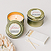 Personalized Gold Tin Candle Wedding Favor - Expressions