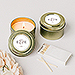 Personalized Gold Tin Candle Wedding Favor - Classic Script
