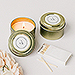Personalized Gold Tin Candle Wedding Favor - Little Heart