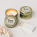 Personalized Gold Tin Candle Wedding Favor - Modern Floral