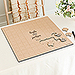 Personalized Wooden Square Puzzle Wedding Guest Book - Signature Couple