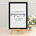 Large 12 x 18 Classic Picture Frame - Black, White, or Fabricated Wood