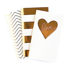 Gold Foil Print Mini Paper Notebooks