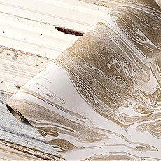 """20"""" Gold Marbled Paper Table Runner"""