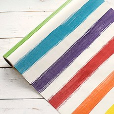 "20"" Painted Stripe Paper Table Runner"