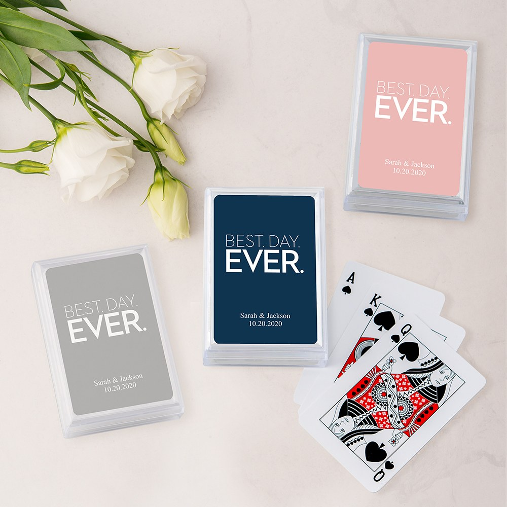 Unique Custom Playing Card Favor - Best Day Ever
