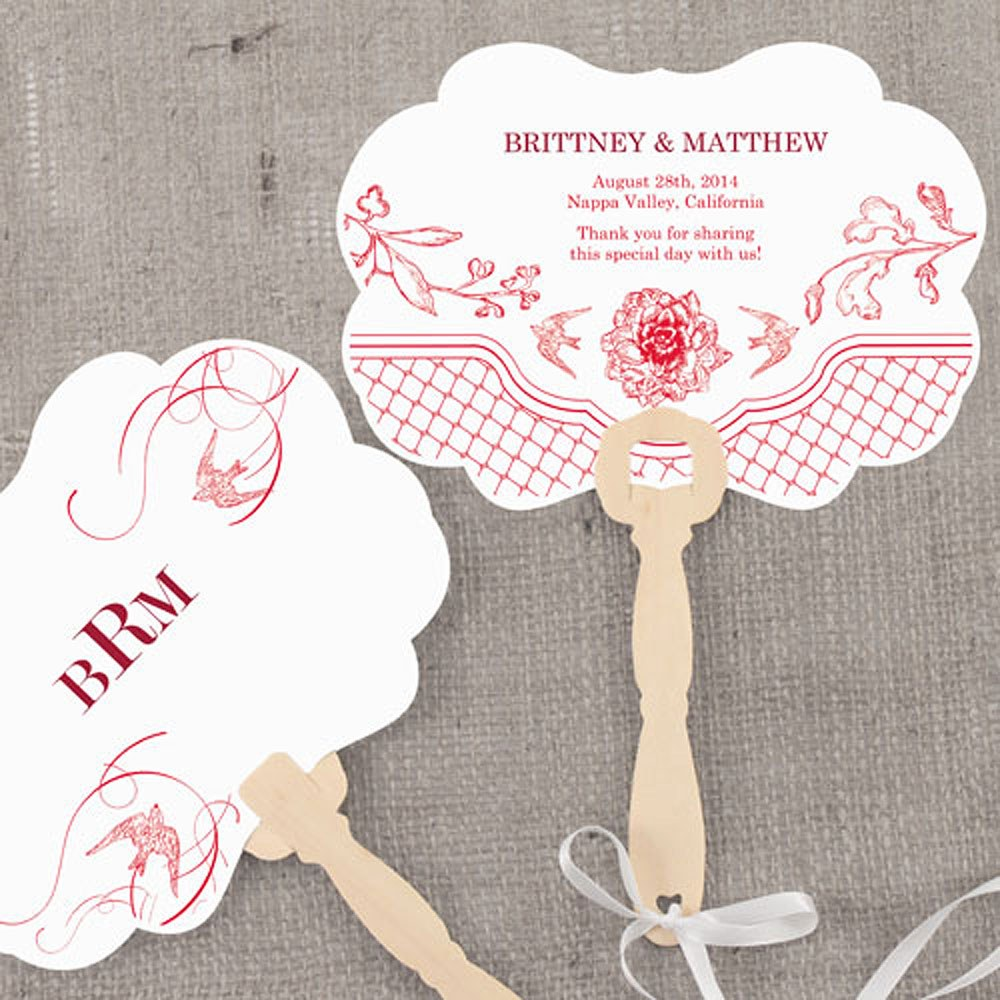 French Whimsy Hand Fan Wedding Favor