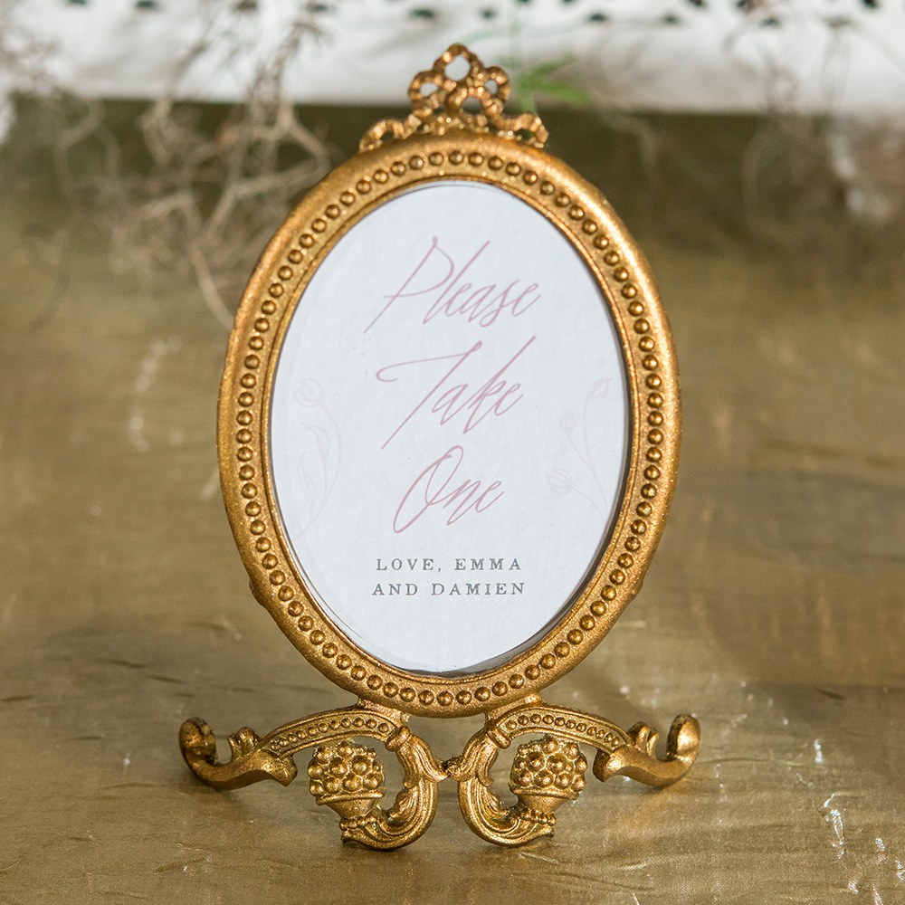 Modern Fairy Tale Oval Photo Frame Cling   Message