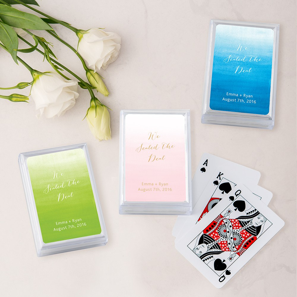 Unique Custom Playing Card Favors - Aqueous