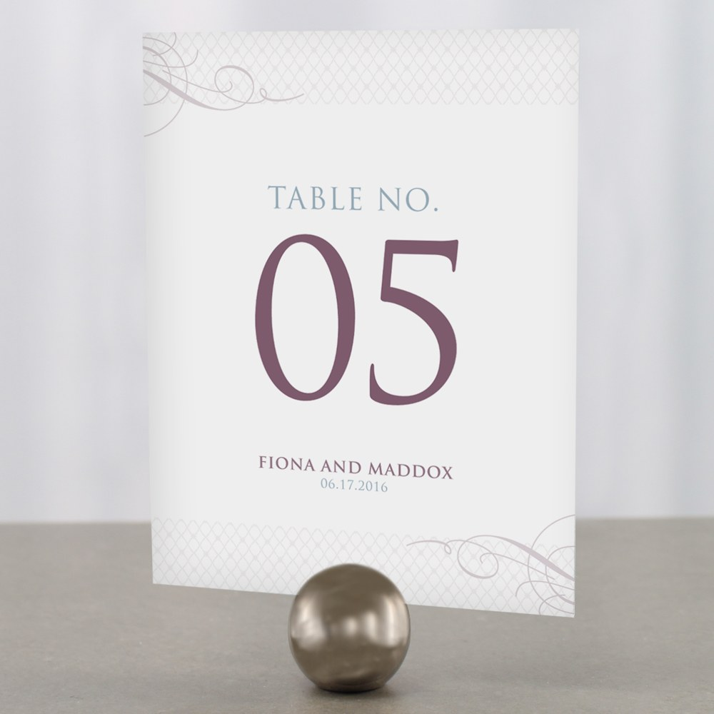 Contemporary Vintage Table Numbers