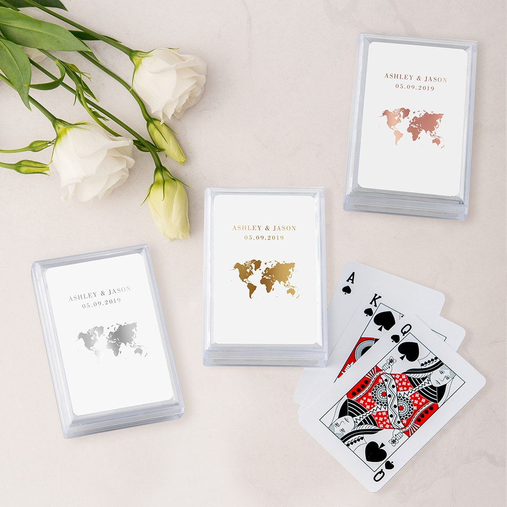Unique Custom Playing Card Favors - Wanderlust Travel