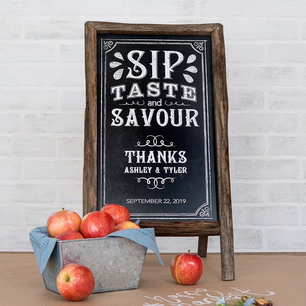 Chalkboard Print Personalized Sign for Rustic Wood Frame