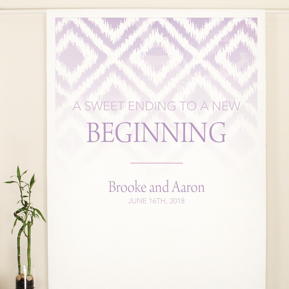 Ikat Personalized Canvas Backdrop