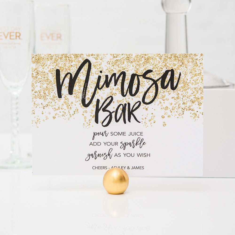 Sparkle Large Card Table Sign