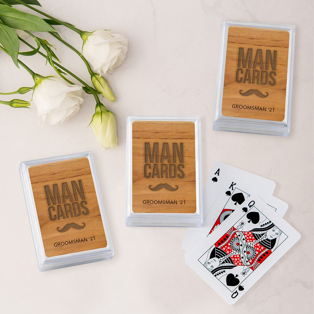 Unique Custom Playing Card Favors - Man Cards