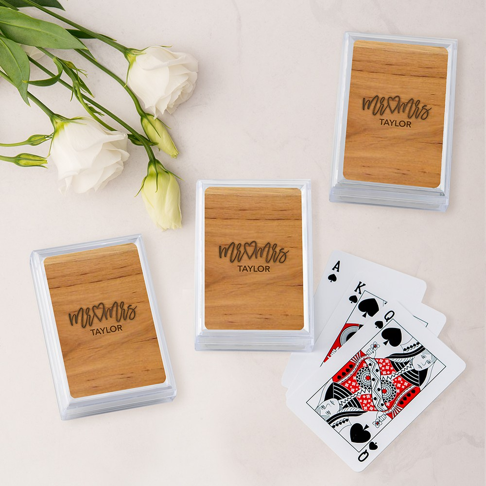 Unique Custom Playing Card Favors - Mr. & Mrs. Script