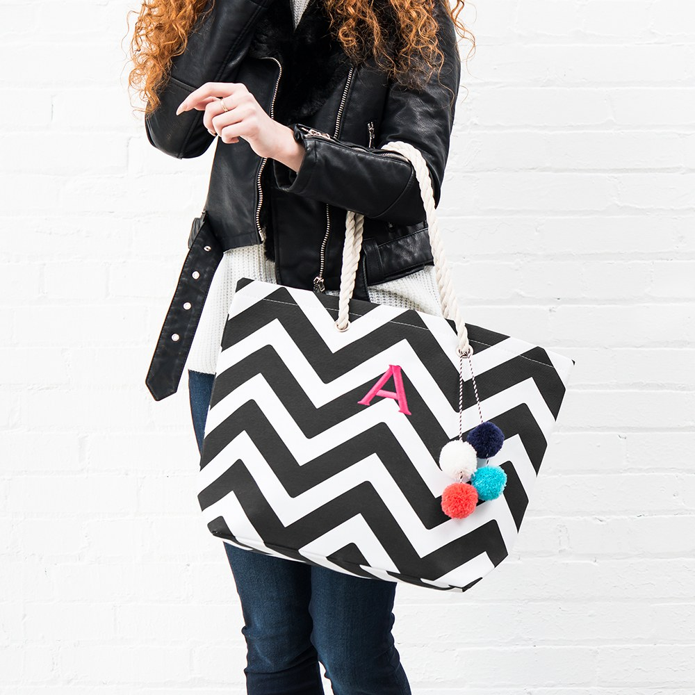 Extra Large Custom Tote - Black