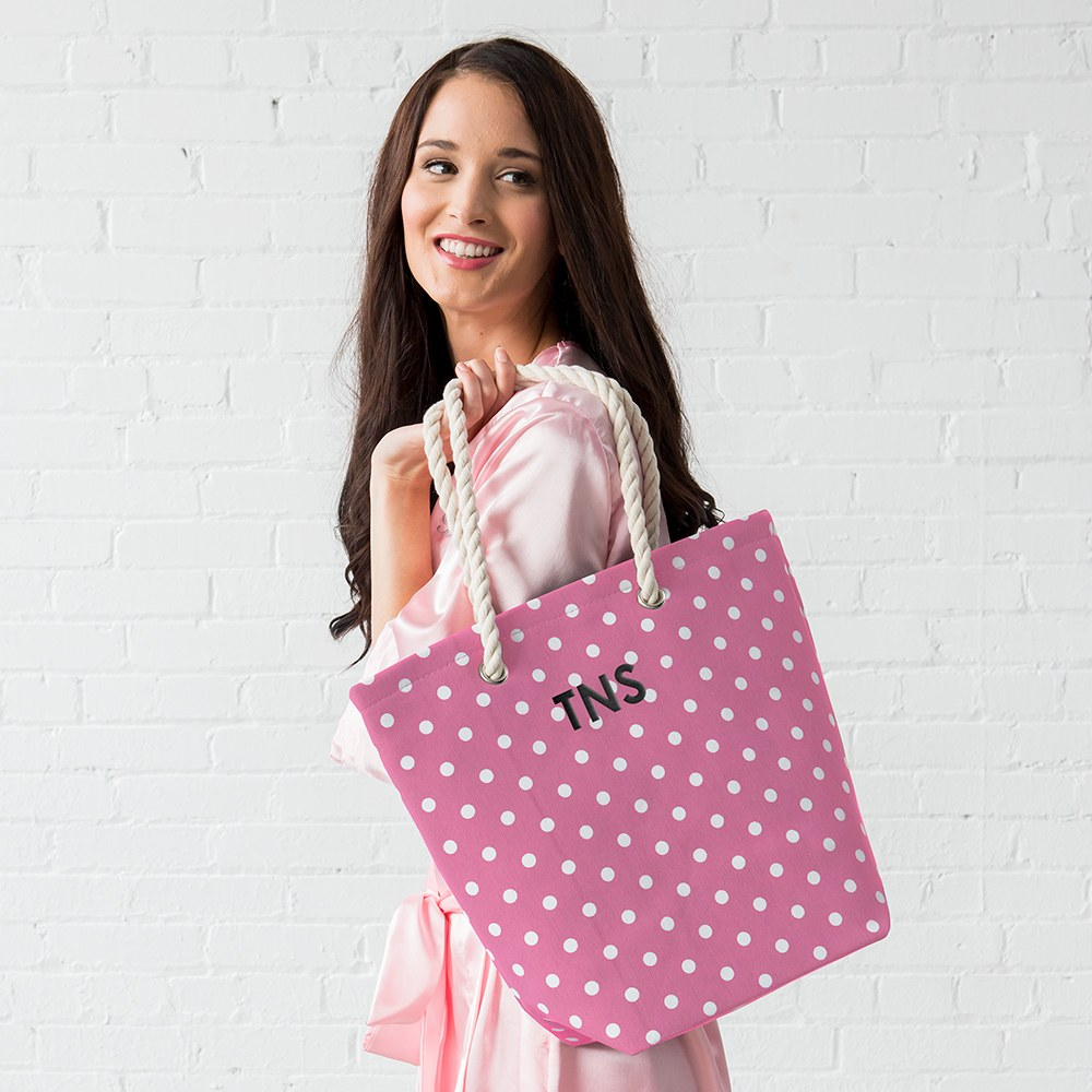 Large Custom Tote Bag - Pink