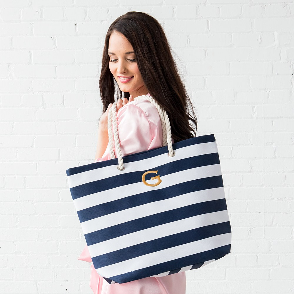 Extra Large Custom Tote Bag - Navy