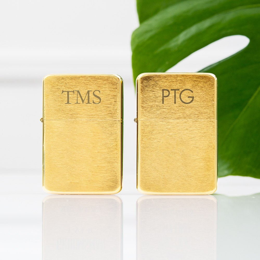 Brushed Gold Lighter