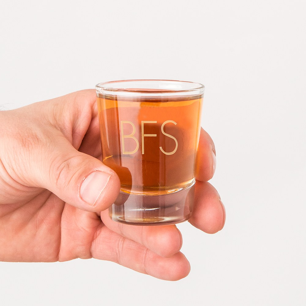 Personalized Clear 1 oz. Shot Glass - Classic Monogram