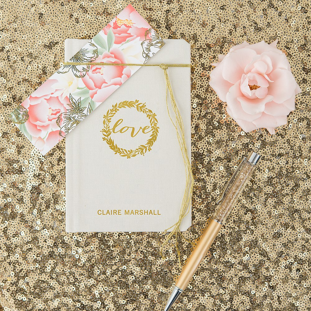 Personalized Vow Pocket Notebook – Love Wreath