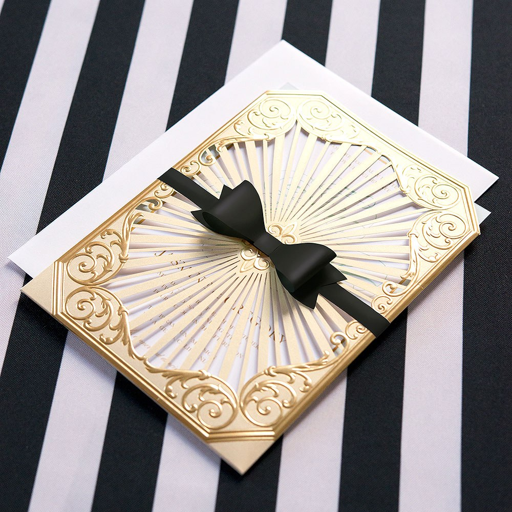 Medium Classic Black Paper Bows