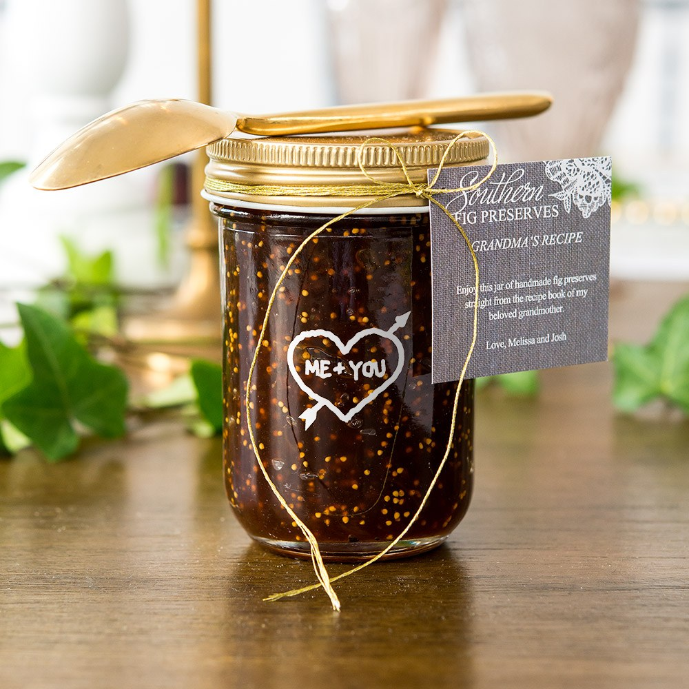Glass Mason Jar with Gold Solid Lid   Printed