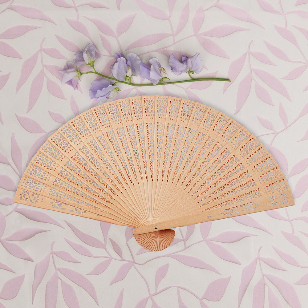 Chinese Sandalwood Folding Hand Fan