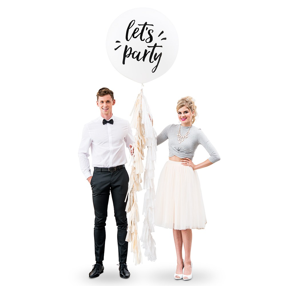Jumbo White Round Wedding or Party Balloons - Let's Party