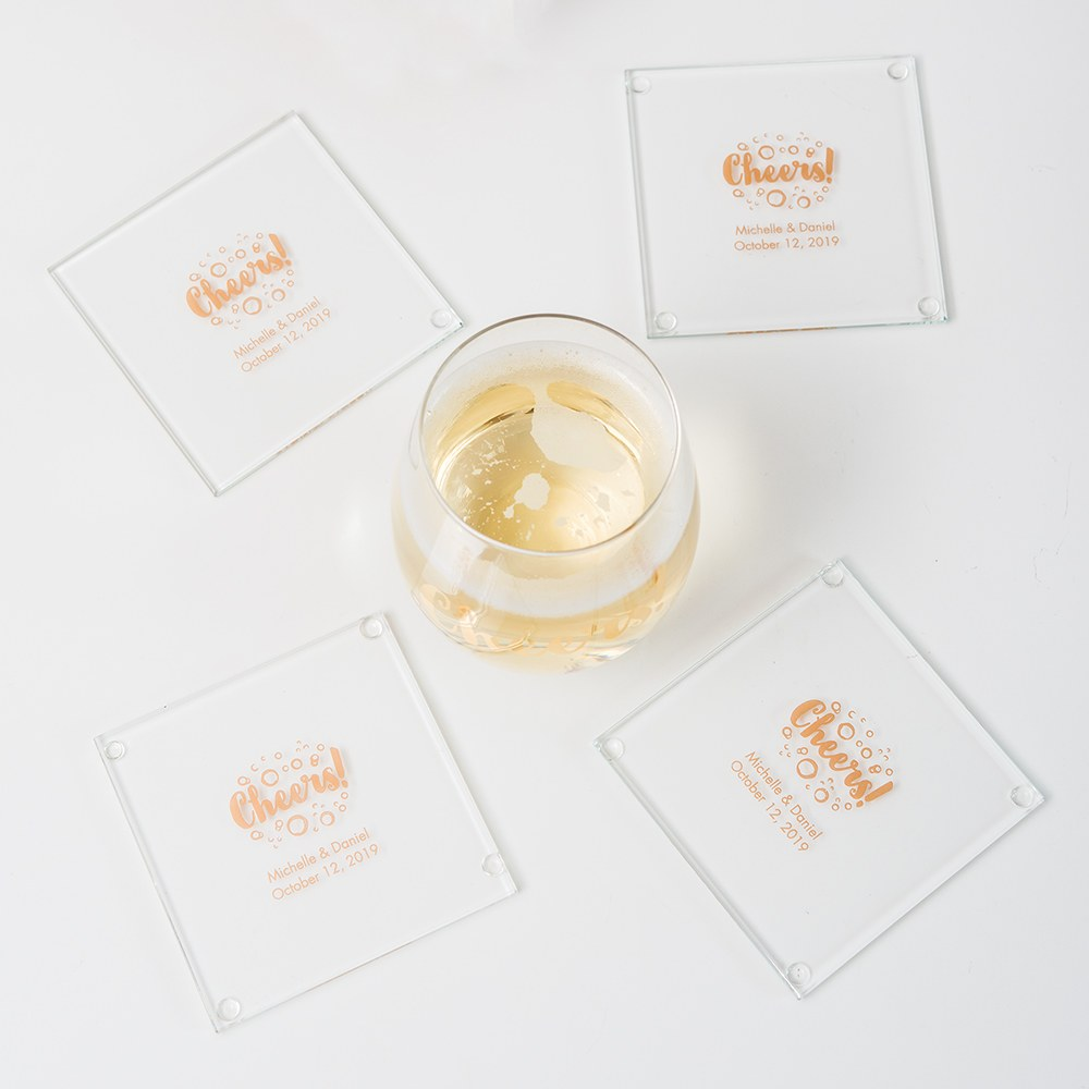 Personalized Glass Coaster Favor