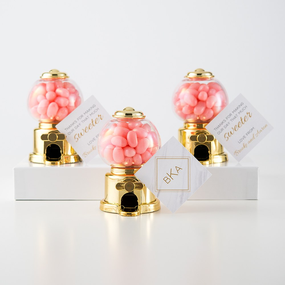 Mini Gumball Machine Party Favor - Gold