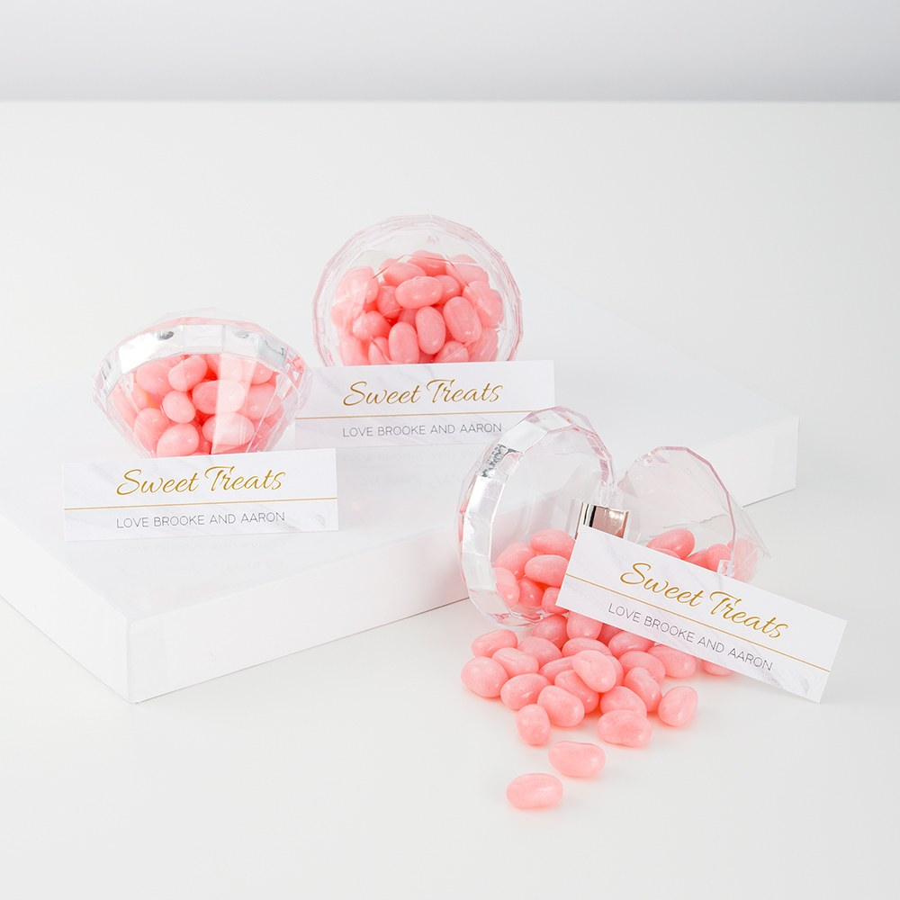 Clear Acrylic Diamond Wedding Favor