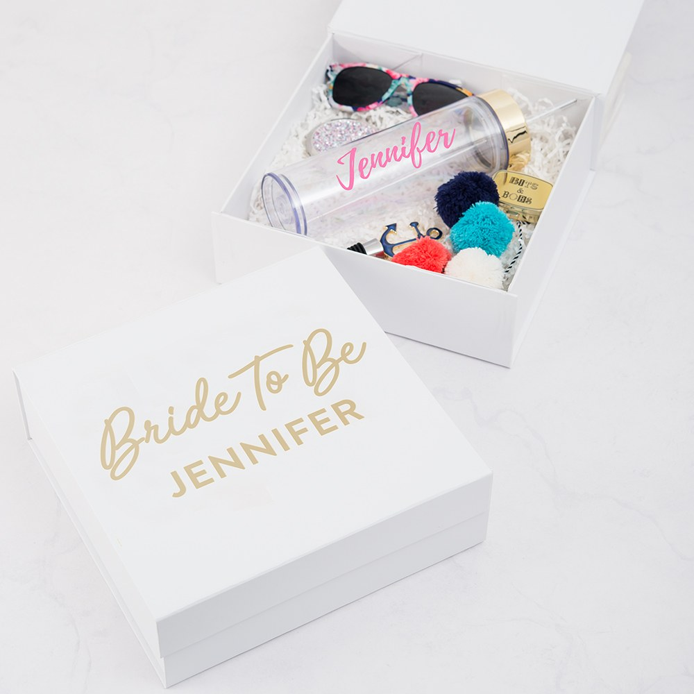 Premium Gift Box - Bride to Be in Metallic Gold