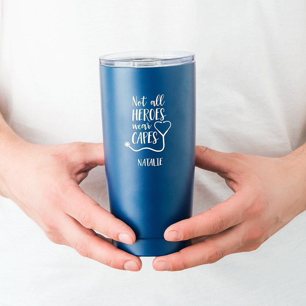 Stainless Steel Insulated Travel Mug - Not All Heroes Wear Capes