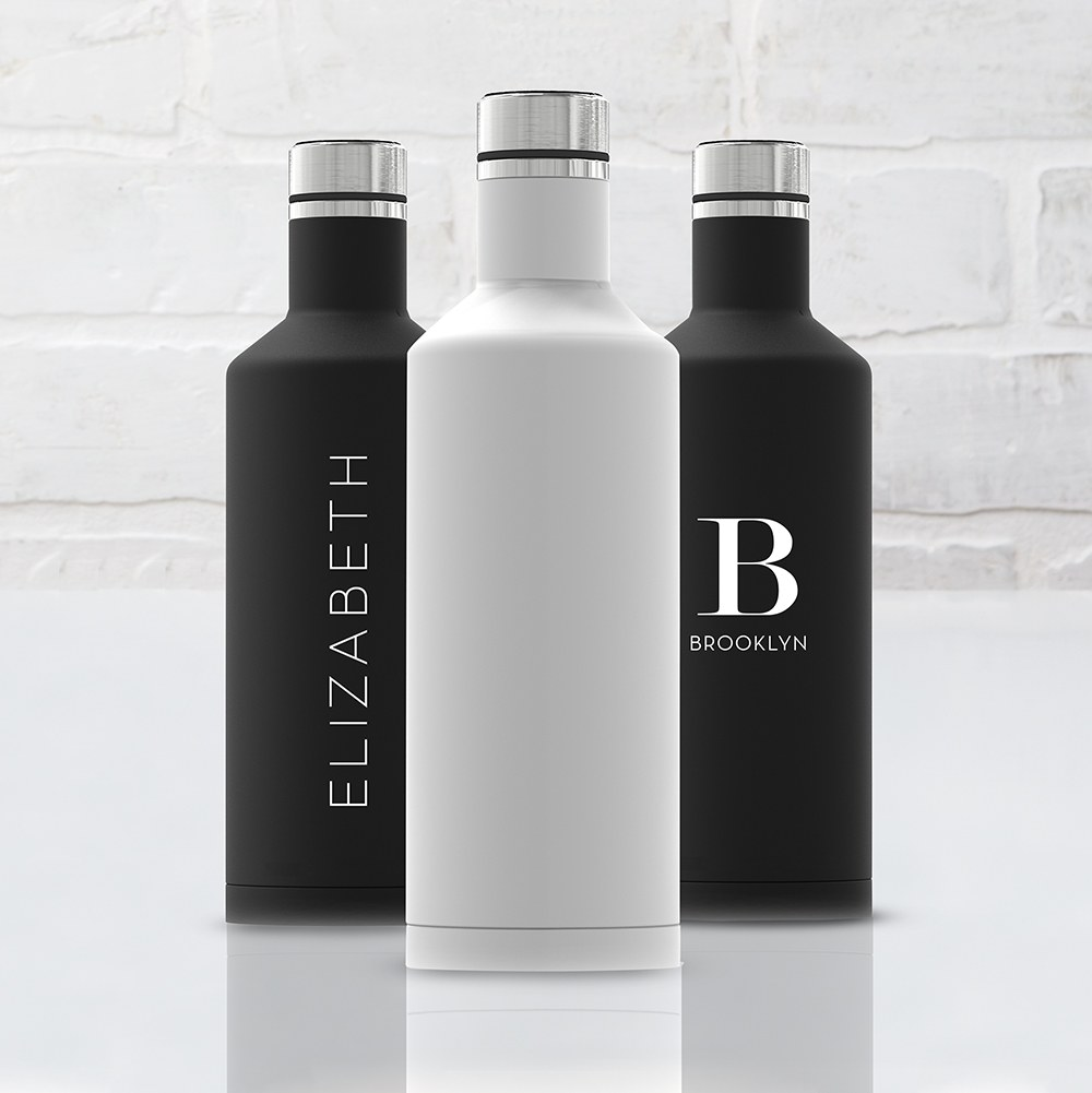 Stainless Steel Insulated Water Bottle – Plain White