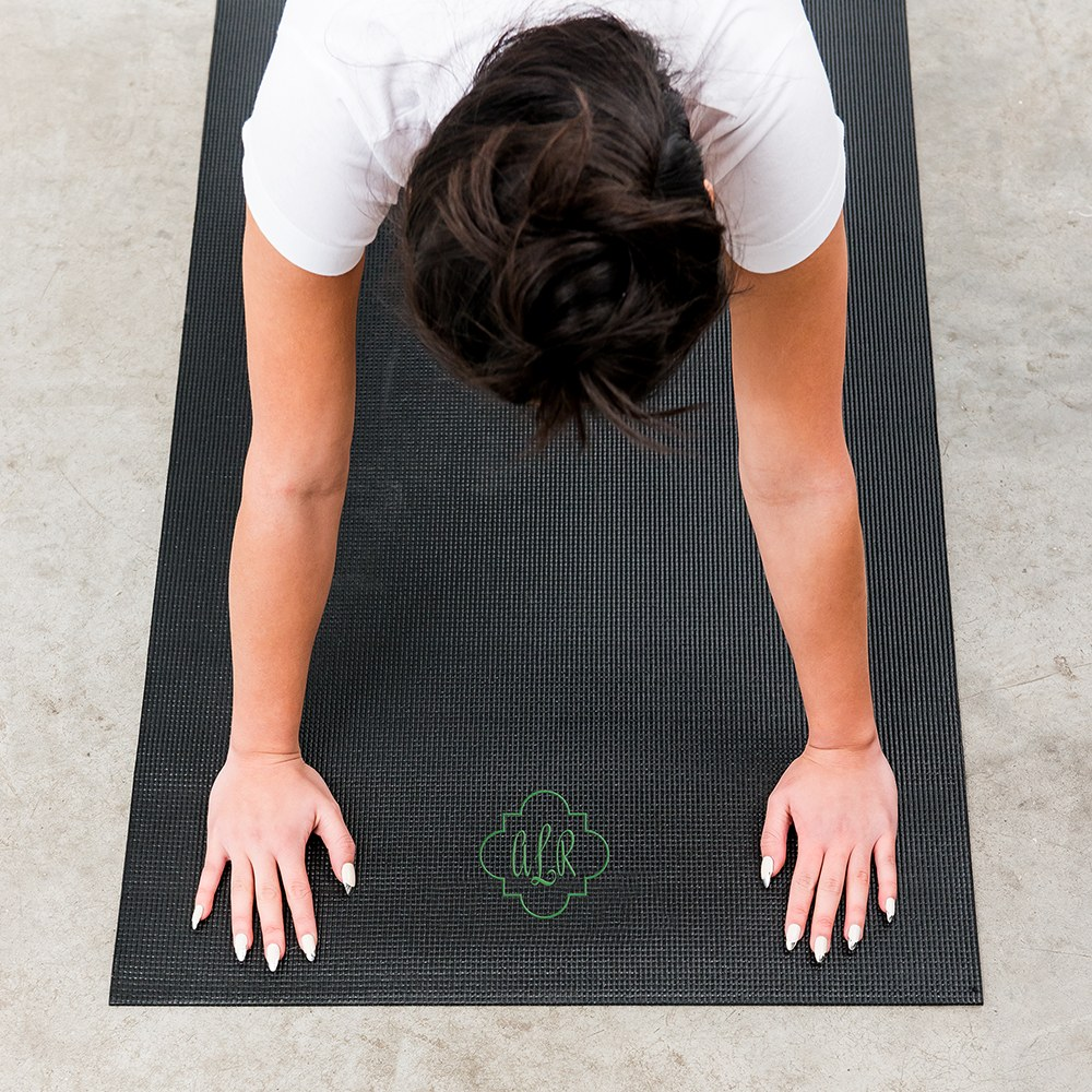 Best Custom No Slip Yoga Mat - Ornate Monogram