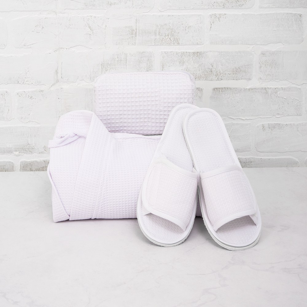 Women's Cotton Waffle Spa Slippers