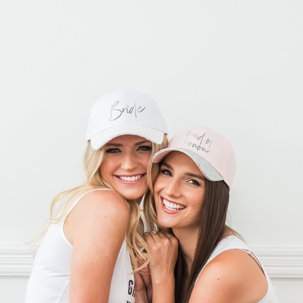 Women's Wedding Party Glitter Hats - Maid of Honour