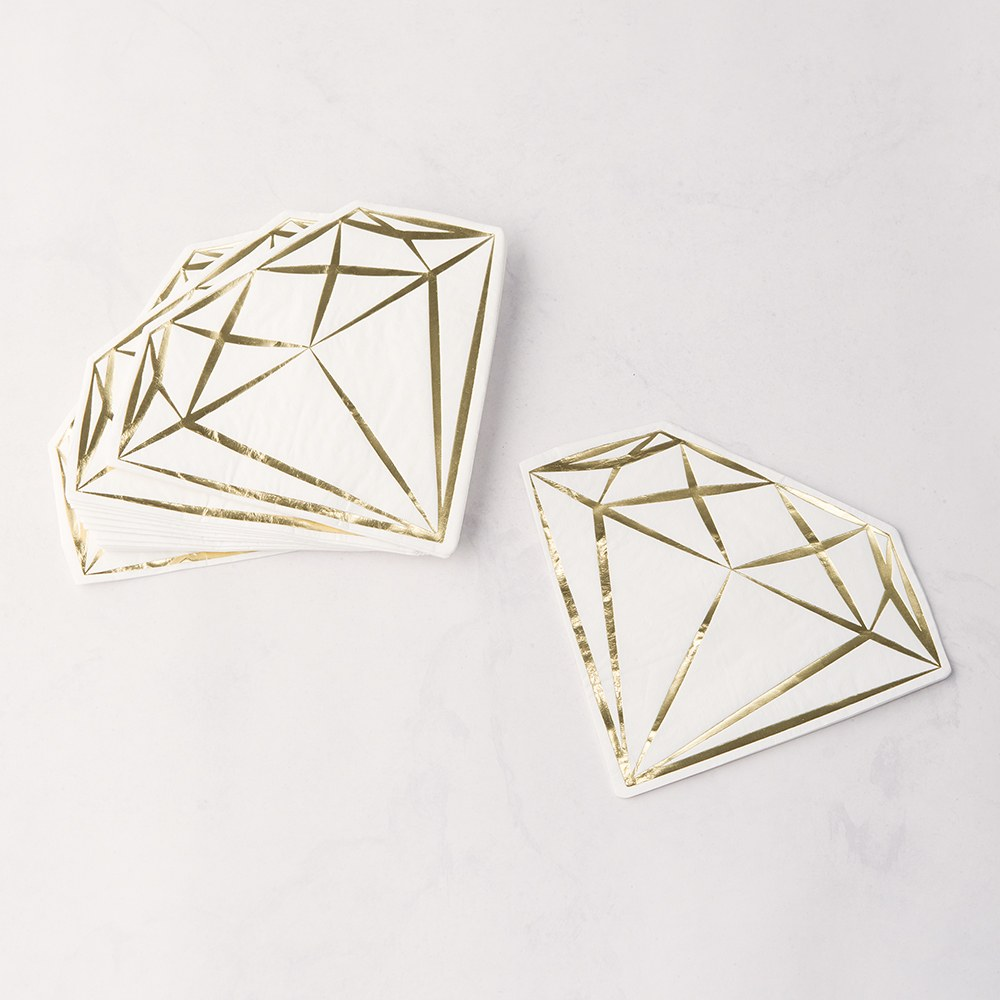 Cute Special Occasion Paper Party Napkin - Diamond