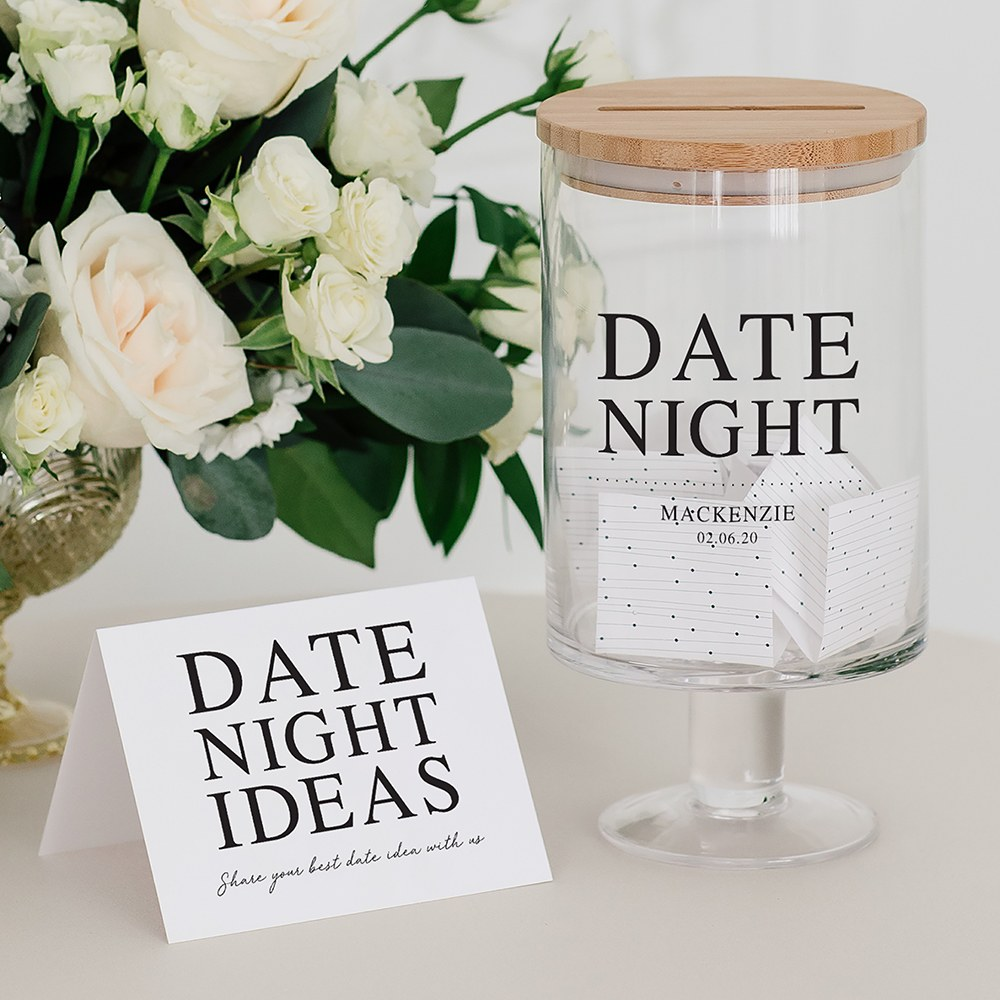 Personalised Glass Wedding Wishes Guest Book Jar Date Night Weddingstar
