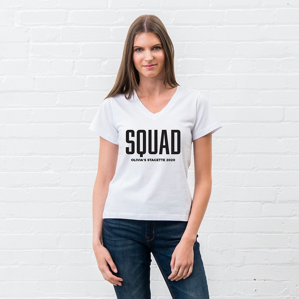 Personalized Bridal Party Wedding T-Shirt - Glam Squad